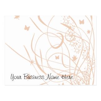 Butterflies and Swirls Floral Gift Certificate Postcard