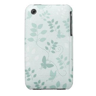 Butterflies and Swirls iPhone 3gs Case