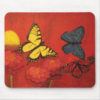 Butterflies and Zinnias Mousepad