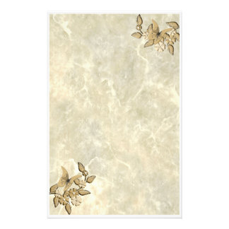 Butterflies anf Flowers Stationery Design