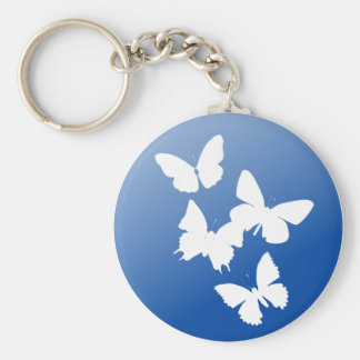 Butterflies are free basic round button key ring
