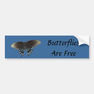 Butterflies Are Free Bumper Sticker