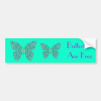 Butterflies are Free, colorful fractal butterflies Car Bumper Sticker