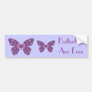 Butterflies are Free, purple fractal butterflies Car Bumper Sticker