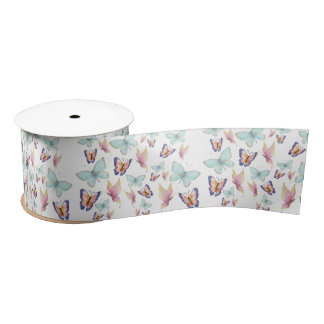 Butterflies are Free Satin Ribbon