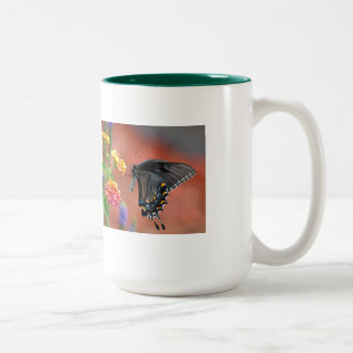 Butterflies Are Free Two-Tone Coffee Mug