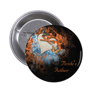 Butterflies at Samhain Father of the Bride Badge 2 Inch Round Button