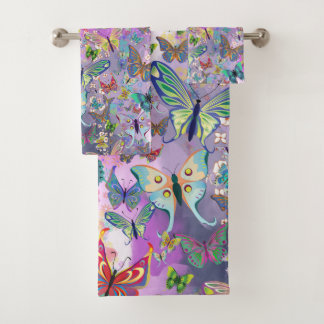 Butterflies Bath Towel Set