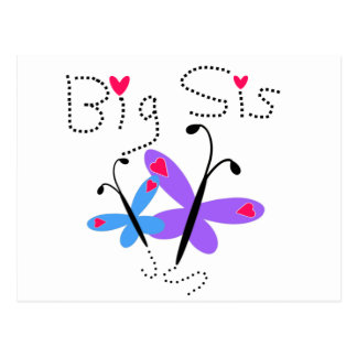 Butterflies  Big Sis Postcard