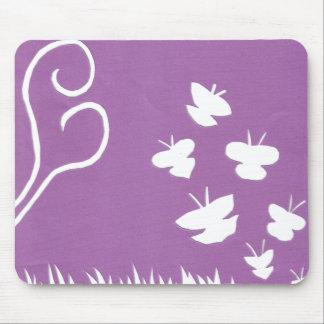 Butterflies, Birds and Plants Silhouette mousepad