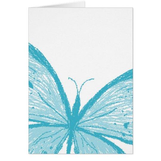 Butterflies blue card