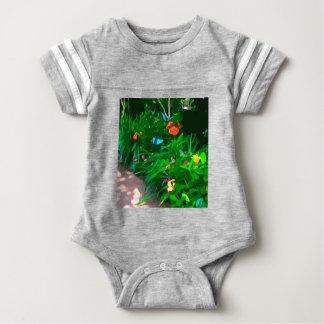 Butterflies Blue Digitized Baby Bodysuit
