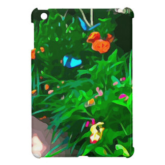 Butterflies Blue Digitized iPad Mini Cover
