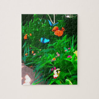 Butterflies Blue Digitized Jigsaw Puzzle