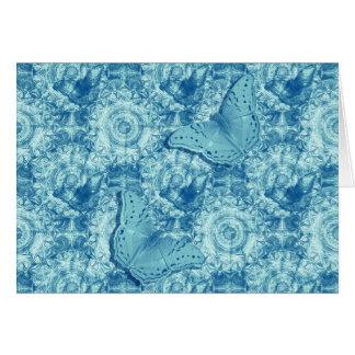 Butterflies blue horizontal card