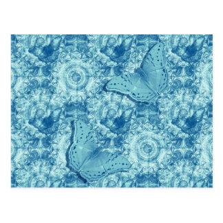 Butterflies blue horizontal postcard
