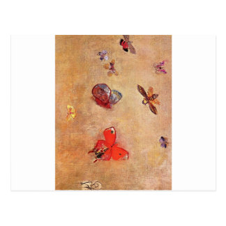 Butterflies by Odilon Redon Postcard