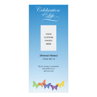 Butterflies Celebration of Life Memorial card