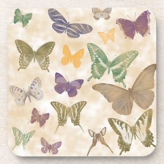 Butterflies Collage Coasters