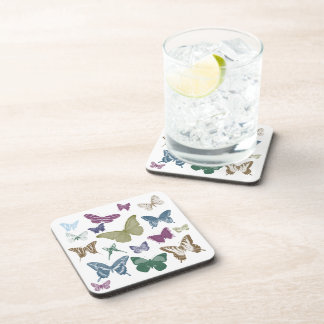 Butterflies Collage Drink Coasters