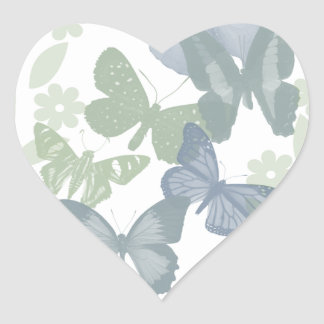 Butterflies ColorFixed Heart Sticker
