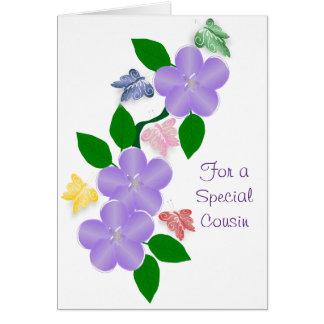 Butterflies Cousin Birthday Card