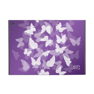 Butterflies Custom Initials Purple iPad Mini Cover