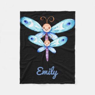 Butterflies Design Fleece Blanket