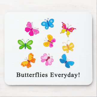 Butterflies everyday mouse pad