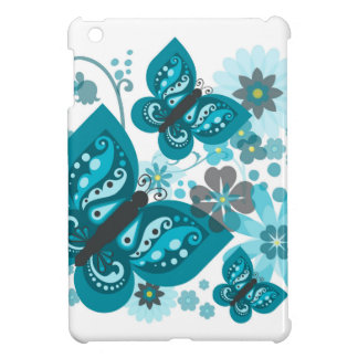 Butterflies & Flowers (blue) iPad Mini Case