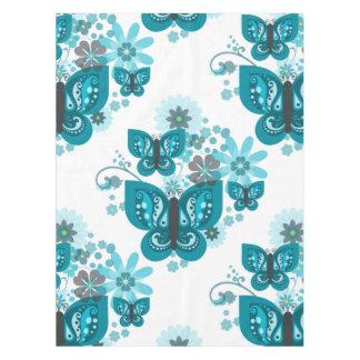 Butterflies & Flowers (blue) Tablecloth