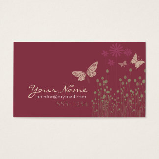 Butterflies & Flowers Business Card