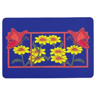 Butterflies & Flowers II Bath Floor Mat