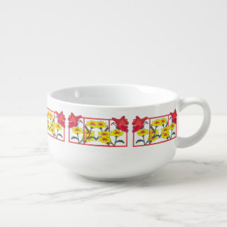 Butterflies & Flowers II Soup Mug