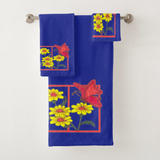 Butterflies & Flowers II Towel set