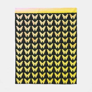 Butterflies Fly Free_Golden_Fleece_Blanket-M Fleece Blanket