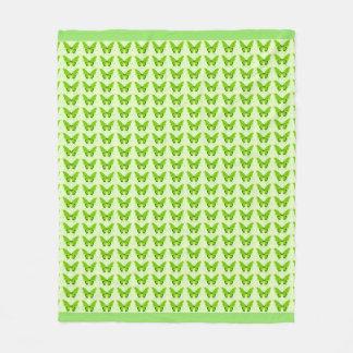 Butterflies Fly Free_Green_Fleece_Blanket-M Fleece Blanket