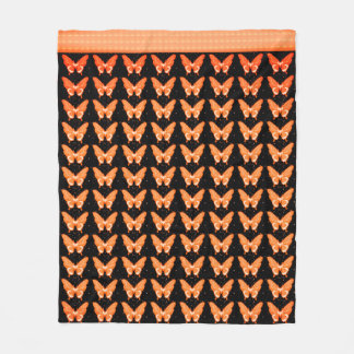 Butterflies Fly Free_Orangy_Fleece_Blanket-M Fleece Blanket