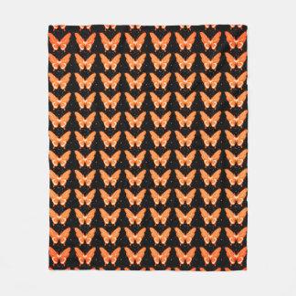 Butterflies Fly Free_Peach_Fleece_Blanket-M Fleece Blanket
