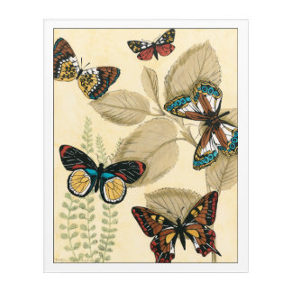 Butterflies Gliding Over Leaves Acrylic Print