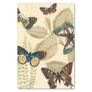 Butterflies Gliding Over Leaves Tissue Paper