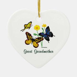 Butterflies Great Grandmother Ceramic Ornament