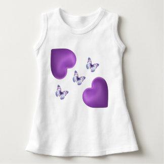 Butterflies & Hearts  Baby Sleeveless Dress