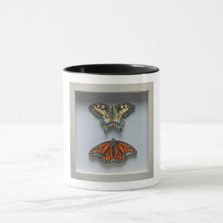 Butterflies 'in a frame' Entomology mug
