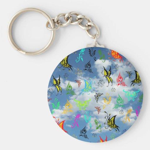 Butterflies in Clouds Key Chain