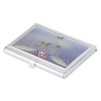 Butterflies in flight in a Zen landscape Business Card Cases