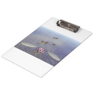 Butterflies in flight in a Zen landscape Clipboard