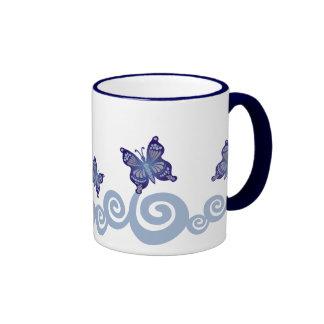Butterflies in Flight Ringer Mug