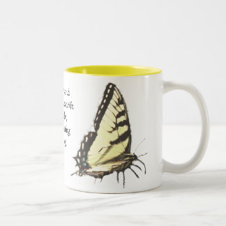 Butterflies in Spring Quote Mug