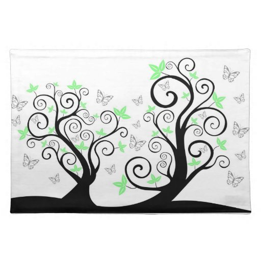 Butterflies in Trees American MoJo Placemat